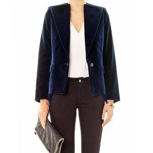 Stella McCartney Velvet Blazer Navy Blue Jacket